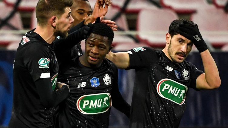 Lille se qualifie grâce à Aguibou Camara  (SEBASTIEN BOZON / AFP)