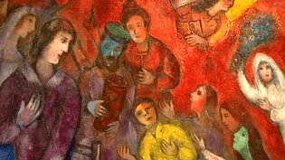 Détail d'un tableau de Marc Chagall exposé à Roubaix  (France 3 / Culturebox / capture d'écran)
