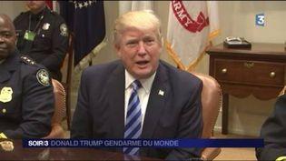 Donald Trump a décidé de frapper Daech en Afghanistan. (FRANCE 3)
