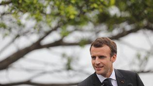 Emmanuel Macron à Sydney (Australie), le 1er mai 2018. (LUDOVIC MARIN / AFP)