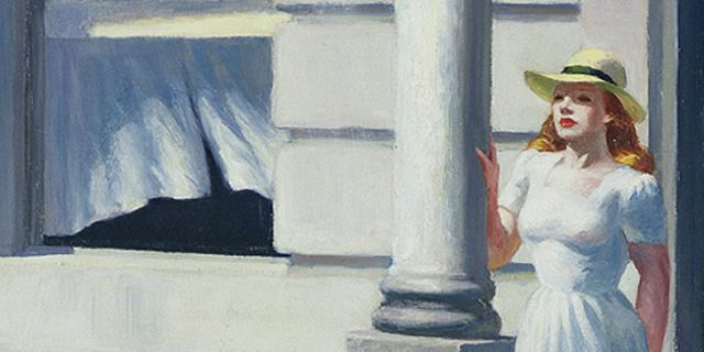 """Illustration (extrait) couverture """"Aberration de la lumière"""", Gilbert Sarrentino  (Hopper/Acte Sud)"""