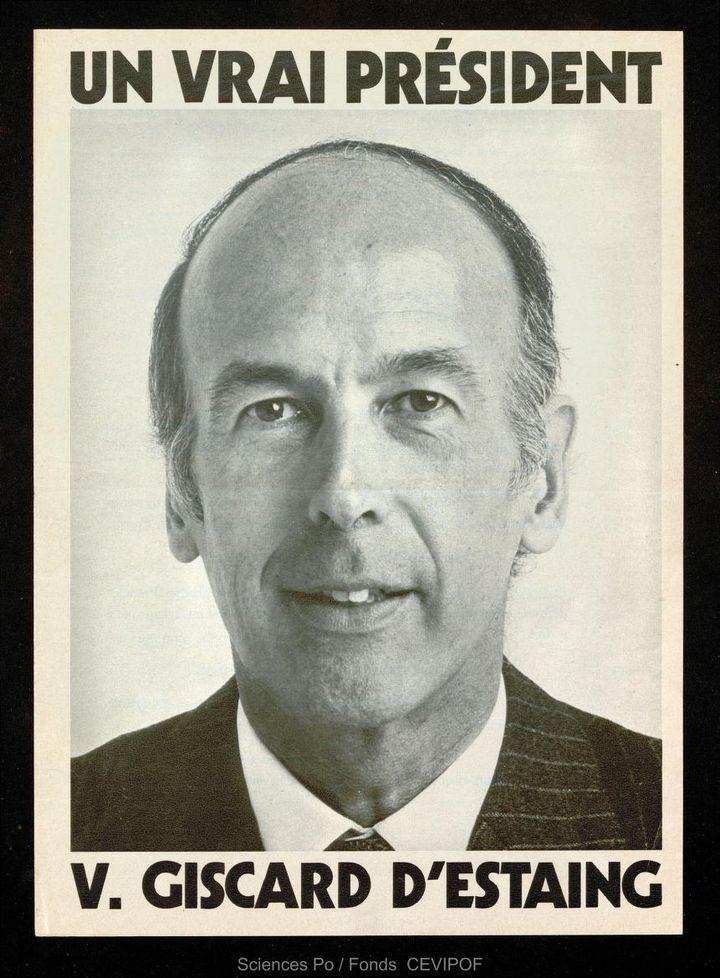 Une affiche du candidat Valéry Giscard d'Estaing pour les élections présidentielles de 1974. (SCIENCES PO / CEVIPOF)
