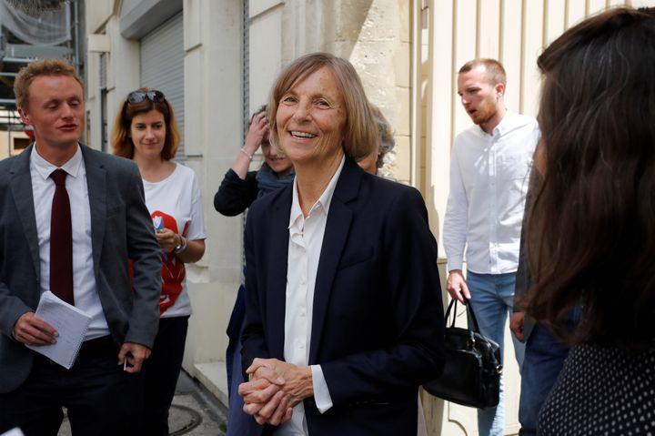 La ministre des Affaires européennes, Marielle de Sarnez, le 11 juin 2017 à Paris. (PATRICK KOVARIK / AFP)