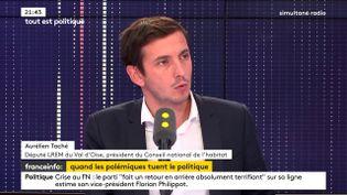 Le député LREMAurélien Taché sur franceinfo. (FRANCEINFO)