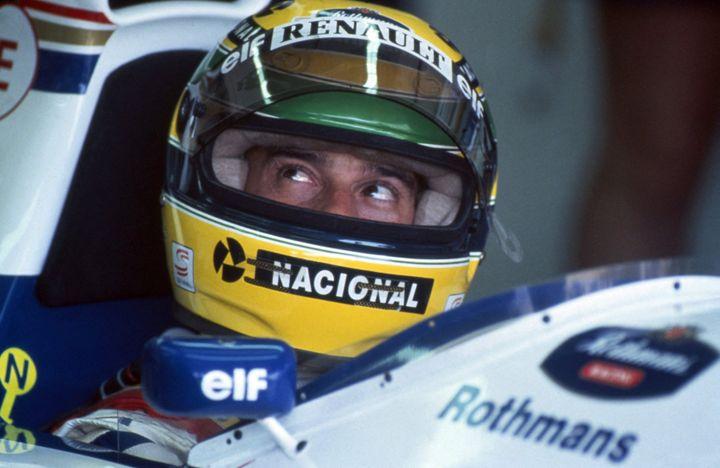 Ayrton Senna avant le départ du Grand Prix d'Imola, le 1e mai 1994.  (LEEMAGE VIA AFP)