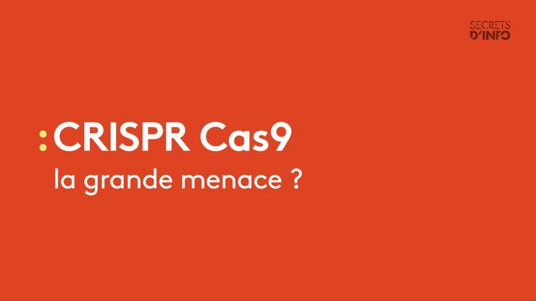 """CRISPR Cas9 """"le couteau suisse de la génétique"""" pourrait bien aider à guérir de nombreuses maladies. Mais pourquoi les services de sécurité s'inquiètent-ils ? Une enquête de franceinfo publiée le 28 janvier 2017. (RADIO FRANCE)"""