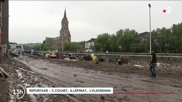 Inondations en Belgique : à Verviers, les habitants découvrent leur ville sinistrée