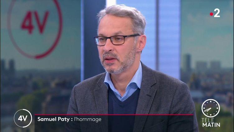 Iannis Roder, professeur d'histoire-géographie en collège et membre du Conseil des sages de la laïcité. (France 2)
