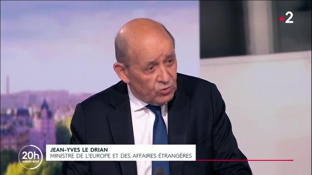 Jean-Yves Le Drian au 20 heures
