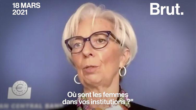 """VIDEO. Accès des femmes à des postes de pouvoir : """"Je suis favorable à des quotas"""", estime Christine Lagarde (BRUT)"""