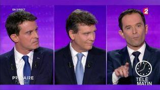 Benoît Hamon a été ciblé par les candidats à la primaire de la gauche. (FRANCE 2)