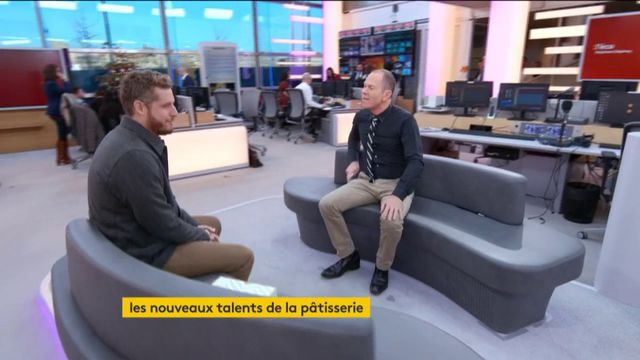 """Le pâtissier Yann Couvreur était l'invité de Stéphane Dépinoy jeudi 28 décembre dans l'émission """":L'éco"""" pour parler de son savoir-faire."""