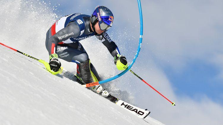 Alexis Pinturault n'a jamais réussi à prendre la mesure de la piste (FABRICE COFFRINI / AFP)