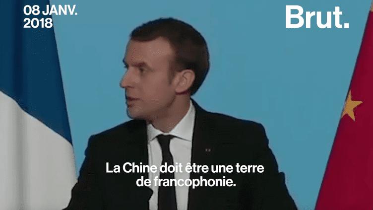 En Chine, Emmanuel Macron fait la promotion du français (BRUT)