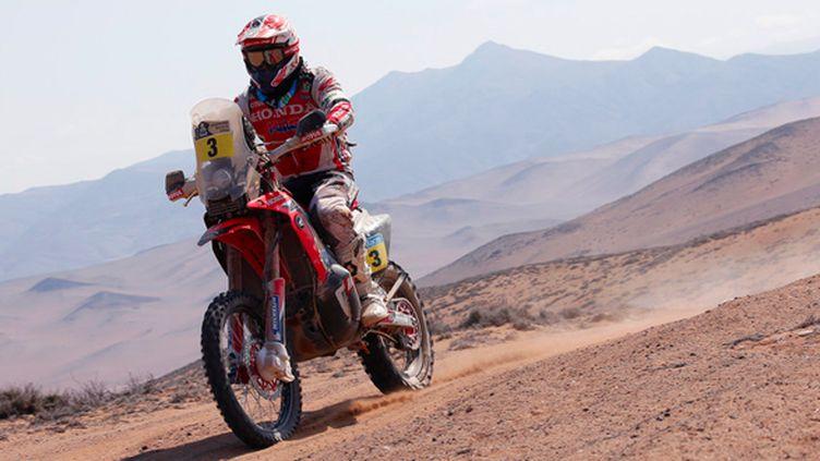 Joan Barreda (Honda) dans les dunes