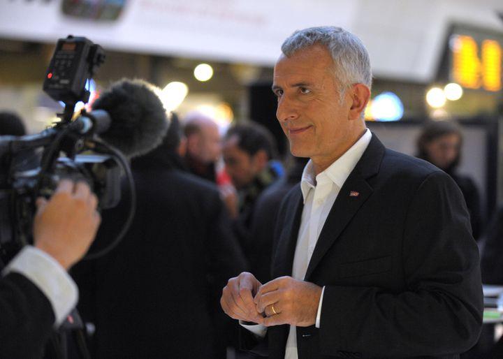 Guillaume Pepy à la gare Montparnasse, à Paris, en décembre 2012. (ERIC PIERMONT / AFP)