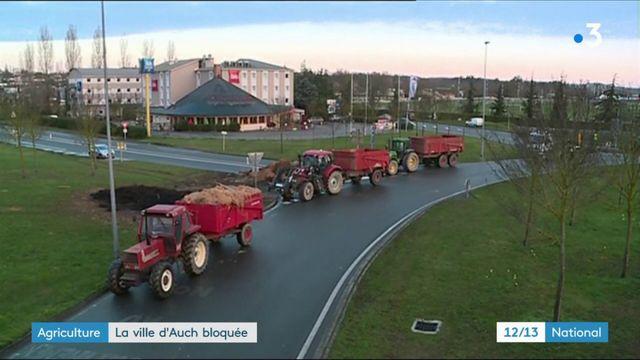 Agriculture : la ville d'Auch bloquée pour manifester contre la nouvelle carte des zones défavorisées