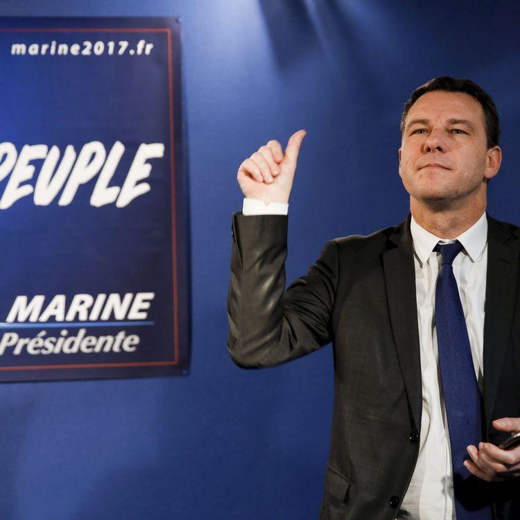 Jean-Lin Lacapelle, secrétaire national du FN, au QG de Marine Le Pen à Paris,le 4 janvier 2017 (NICOLAS TAVERNIER/REA)