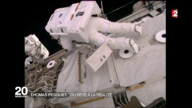 Espace : Thomas Pesquet effectue sa première sortie