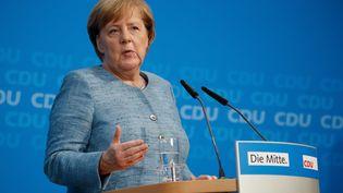Angela Merkel, le 21 octobre 2018 à Berlin. (ODD ANDERSEN / AFP)