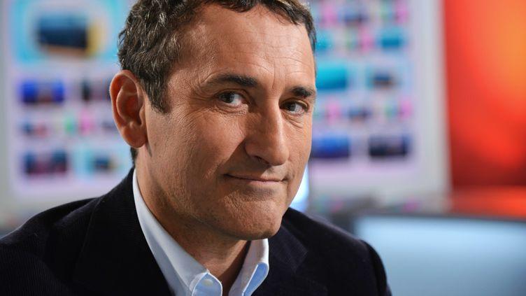 Le président de la chaîne Numéro 23, Pascal Houzelot, le 12 octobre 2012, sur le plateau de LCI, à Boulogne-Billancourt (Hauts-de-Seine). (IBO/SIPA)