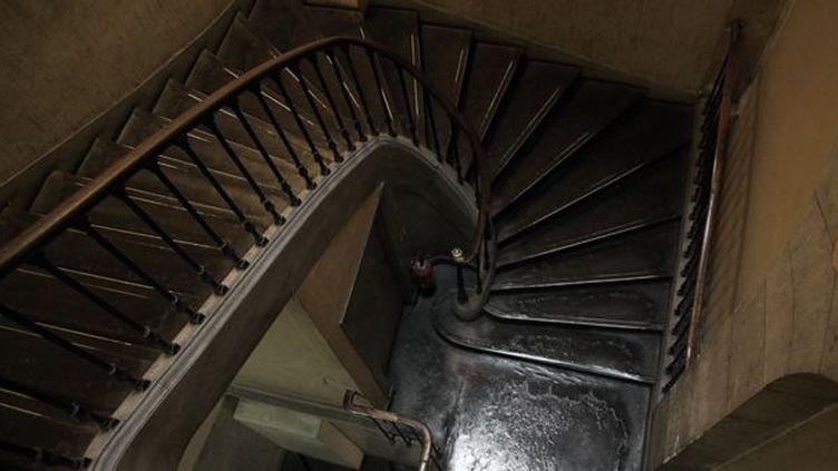 Le fameux escalier du 36 Quai des Orfèvres, visible ce week-end lors des Journées du Patrimoine  (PMG/SIPA)