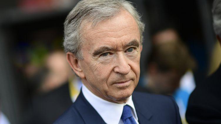 Le PDG du groupe LVMH, Bernard Arnaud, le 15 juin 2017, à Paris. (MARTIN BUREAU / AFP)
