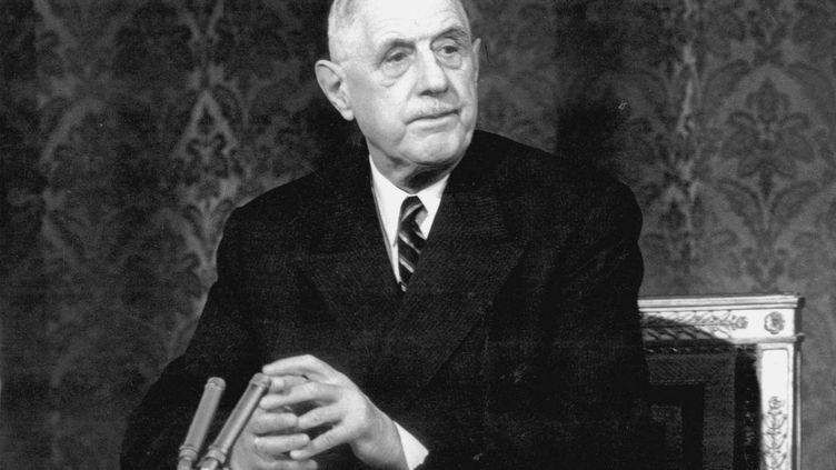 Le Général de Gaulle en 1966 à la télévision (UPPA/PHOTOSHOT / MAXPPP)