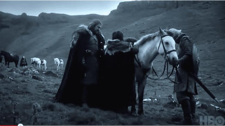 """Capture d'écran d'un extrait de la série """"Game of Thrones"""". (FRANCETV INFO)"""