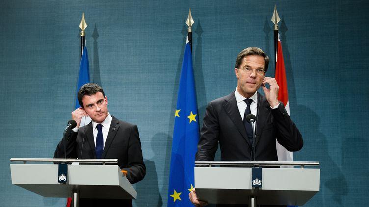 Le Premier ministre Manuel Valls lors d'une conférence de presse à La Haya (Pays-Bas), le 31 octobre 2014. (BART MAAT / ANP MAG / AFP)