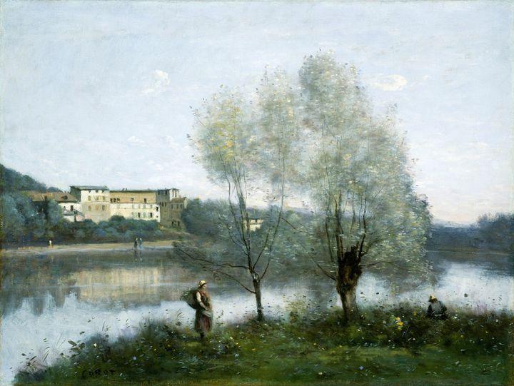 "Jean-Baptiste-Camille Corot (1796-1875)""Ville-d'Avray""c. 1865, huile sur toile.National Gallery of Art. (ARTOKOLORO / QUINT LOX / ARTOKOLORO QUINT LOX)"