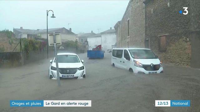 Gard : alerte rouge aux orages, pluies et inondations