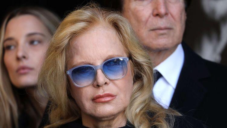 Sylvie Vartan, lors des obsèques de Johnny Hallyday à Paris, le 9 décembre 2017. (LUDOVIC MARIN / AP / SIPA)