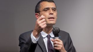 Édouard Durand, le co-président de la Ciivise lors d'un débat sur les violences conjugales, le 14 octobre 2021. (VINCENT ISORE / MAXPPP)