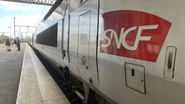 Le passager qui a refusé de porter le masque dans le TGV afinalement été débarqué en gare du Creusot (Saône-et-Loire). (AUR?LIE AUDUREAU / MAXPPP)