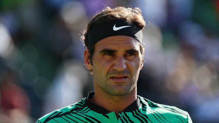 Roger Federer, le 28 mars 2017 àKey Biscayne (Floride). (AL BELLO / AFP)