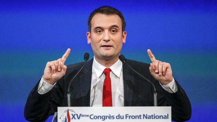 """Florian Philippot, ici à Lyon (Rhône) le 29 novembre 2014, a estimé que la victoire de la droite aux élections départementales ne """"représentait pas les rapports de force réels du pays"""". (ROBERT PRATTA / REUTERS)"""