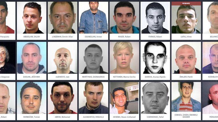 Capture d'écran du site eumostwanted.eu, mis en ligne par Europol vendredi 29 janvier 2016. (EUROPOL)