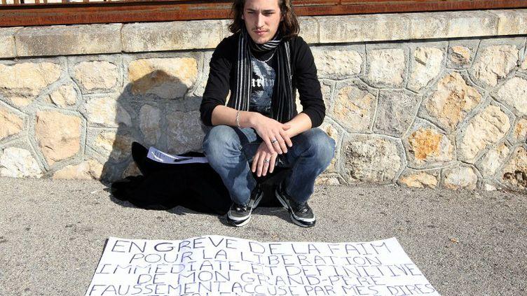 Gabriel Iacono avait commencé sa grève de la faim, jeudi, à Grasse dans les Alpes-Maritimes. (VALERY HACHE / AFP)