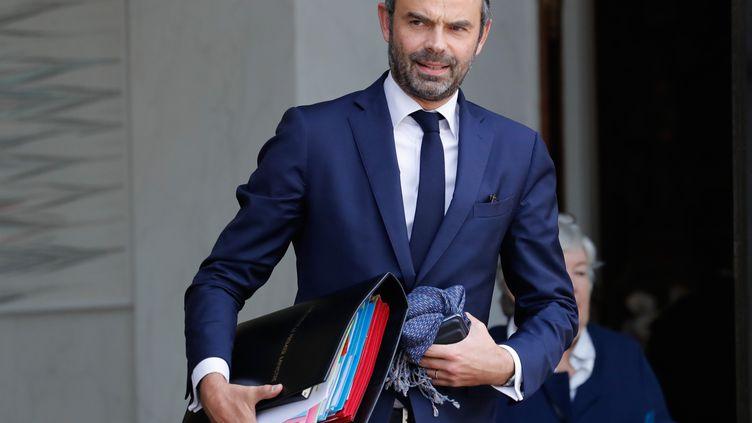 Le Premier ministre, Edouard Philippe, le 25 octobre 2017 au palais de l'Elysée. (PATRICK KOVARIK / AFP)