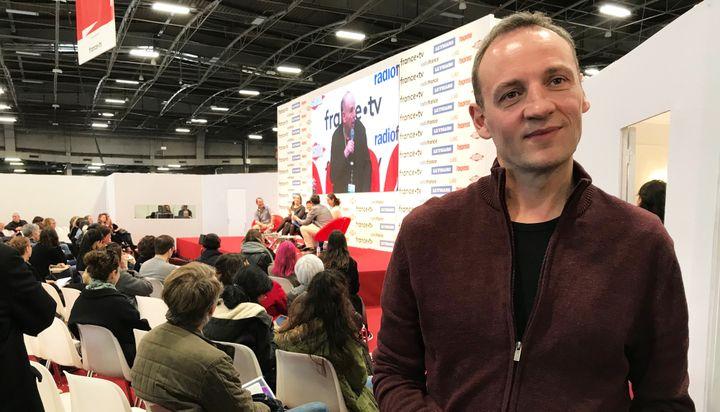 Le romancier François Bégaudeau, salon Livre Paris, 16 mars 2019  (Laurence Houot / Culturebox)