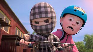 DansMon Ninja et moi,Alex fait équipe avec son jouet animé et essaie de vraincre ses peurs. (Soduku & Po-Up Production)