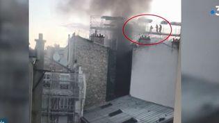 Incendie à Paris. (FRANCE 3)