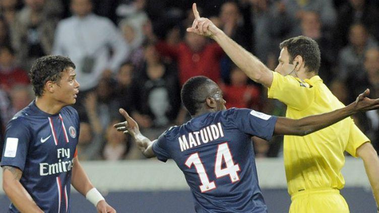 Matuidi et Thiago Silva (PSG) contre Valenciennes