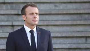 Le président de la République, Emmanuel Macron, à Albert (Somme), le 9 novembre 2018. (LUDOVIC MARIN/AFP)