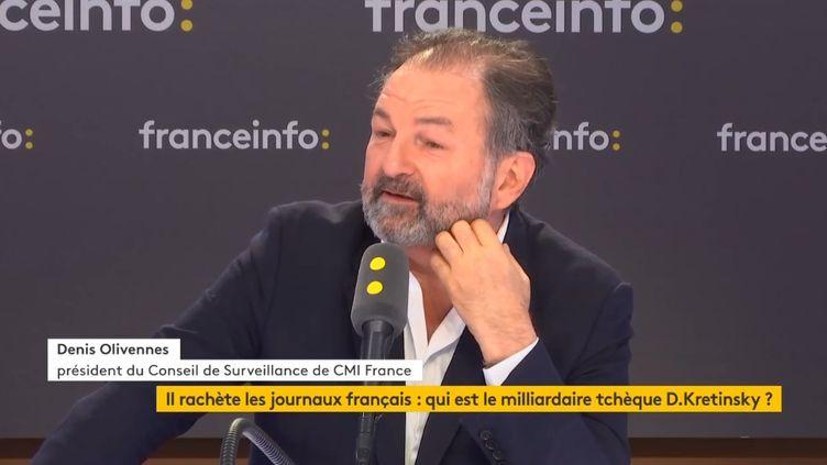 Denis Olivennes,président du Conseil de Surveillance de CMI France, mercredi 20 mars 2019 (FRANCEINFO / RADIOFRANCE)