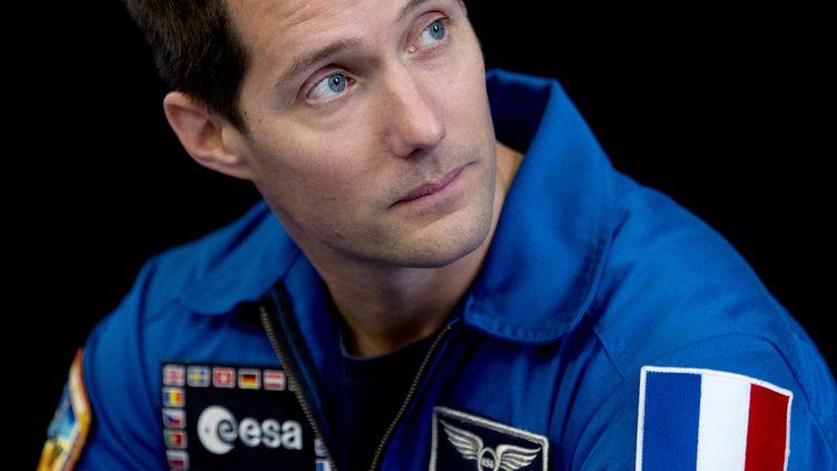 Thomas Pesquet a fait son retour sur Terre, le vendredi 2 juin 2017, après six mois passés dans la Station spatiale internationale. (KENZO TRIBOUILLARD / AFP)