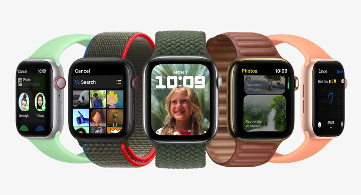 Les différentes nouveautés disponibles sur les montres connectées d'Apple. (APPLE)