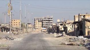 Ouest de Raqqa, le 28 septembre 2017. (GILLES GALLINARO / RADIO FRANCE)