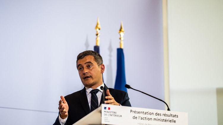 Le ministre de l'Intérieur, Gérald Darmanin, le 12 mai 2021 à Paris. (XOSE BOUZAS / HANS LUCAS / AFP)